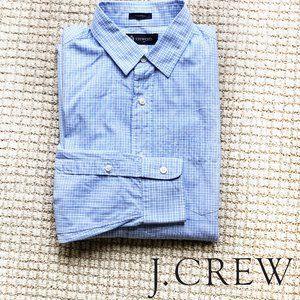 Like new! Boys J.Crew plaid dress shirt